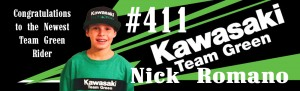 team green rider nick romano