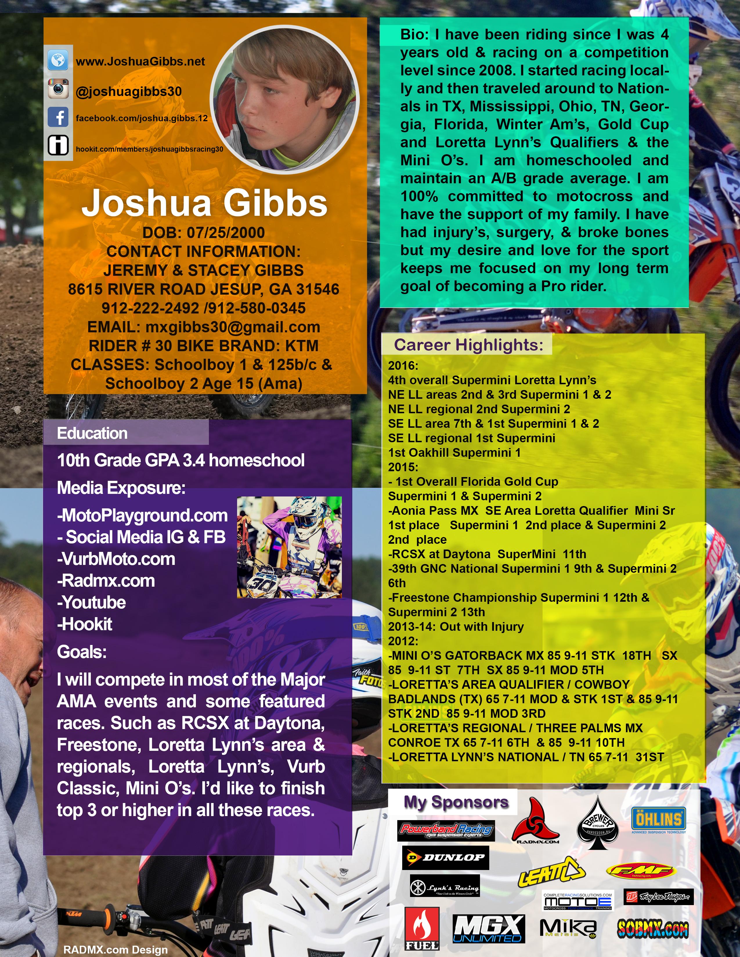 Joshua Gibbs 2017 Resume